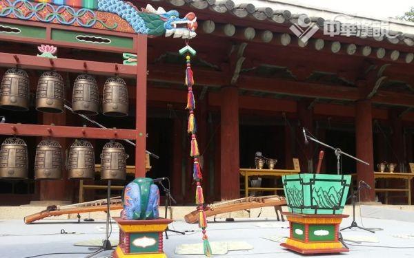 偏殿祭祀结束后留在现场的乐器